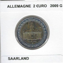 Allemagne 2009 G 2 EURO COMMEMORATIVE SAARLAND SUP