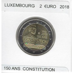 LUXEMBOURG 2018 2 EURO COMMEMORATIVE 150 ANS CONSTITUTION SUP