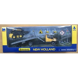 CAMION PLATEAU IVECO ET TRACTOPELLE L230 NEW HOLLAND NEW RAY BOITE D'ORIGINE