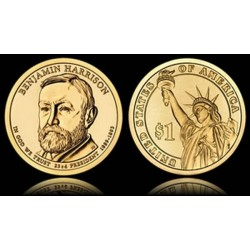 USA 1 DOLLAR BENJAMIN HARRISON 2012 P