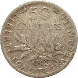 FRANCE 50 CENTIMES ROTY 1902 TB