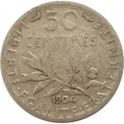 FRANCE 50 CENTIMES ROTY 1904 TB-