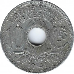 FRANCE 10 CENTIMES LINDAUER 1941 type b SUP-