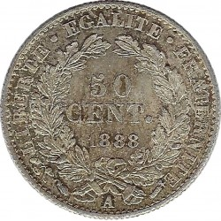 FRANCE 50 CENTIMES CERES 1888 A SUP