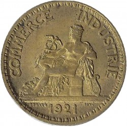 FRANCE 50 CENTIMES DOMARD 1921 SUP-