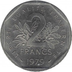 FRANCE 2 FRANCS ROTY 1979 SUP/NC