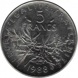 FRANCE 5 FRANCS ROTY 1988  SUP/NC