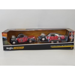 FORD F-1 PICKUP 1948 ET FORD MUSTANG GT 1967 MAISTO 1/24 BOITE NEUF