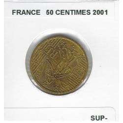 FRANCE 2001 50 CENTIMES SUP-