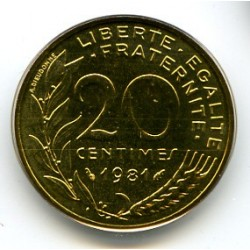 FRANCE 20 CENTIMES...