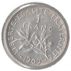 FRANCE 1 FRANC ROTY 1909 SUP-