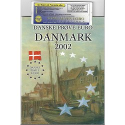 ESSAI EURO COIN DANMARK DANEMARK 2002 EURO PATTERN PROTOTYPE PROVA 8 COIN COLLECTION FDC UNC 23000 Séries