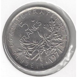 FRANCE 5 FRANCS ROTY 1971 SUP