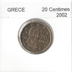 GRECE 2002 20 CENTIMES SUP