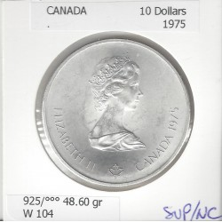 CANADA 10 DOLLARS 1975 OLYMPIC GAMES SUP/NC W 104