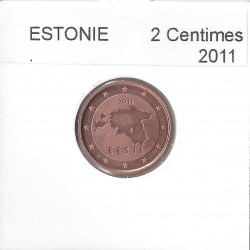 ESTONIE 2011 2 CENTIMES SUP