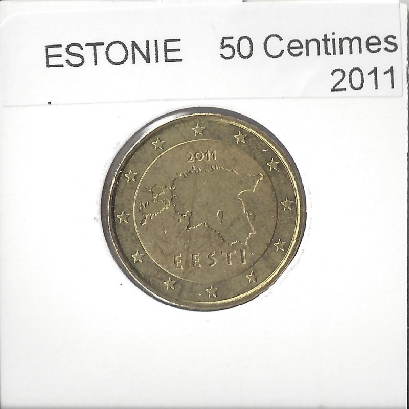 ESTONIE 2011 50 CENTIMES  SUP