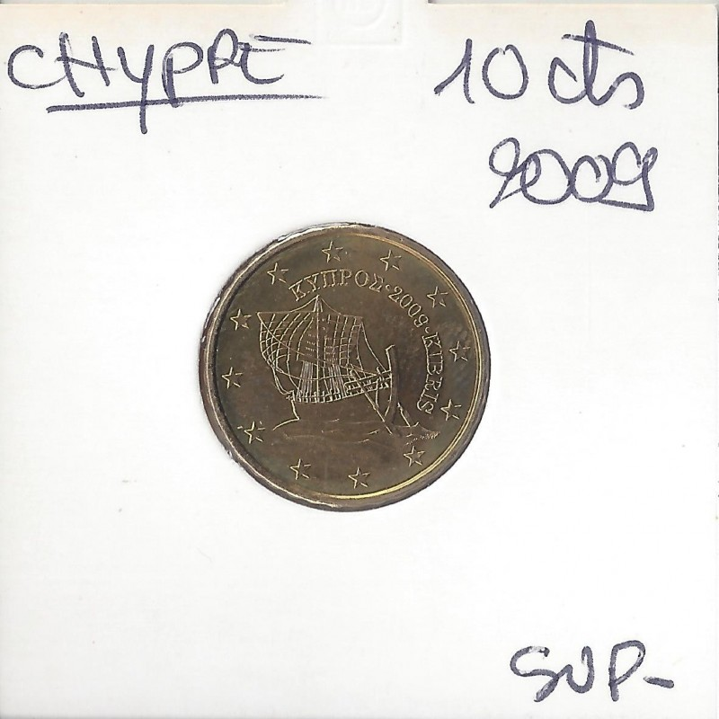 CHYPRE 2009 10 CENTIMES SUP