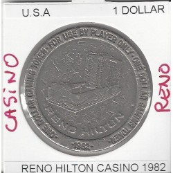 CASINO RENO 1 DOLLAR HILTON CASINO 1982