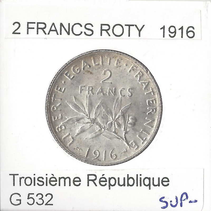 2 FRANCS ROTY 1916 SUP-