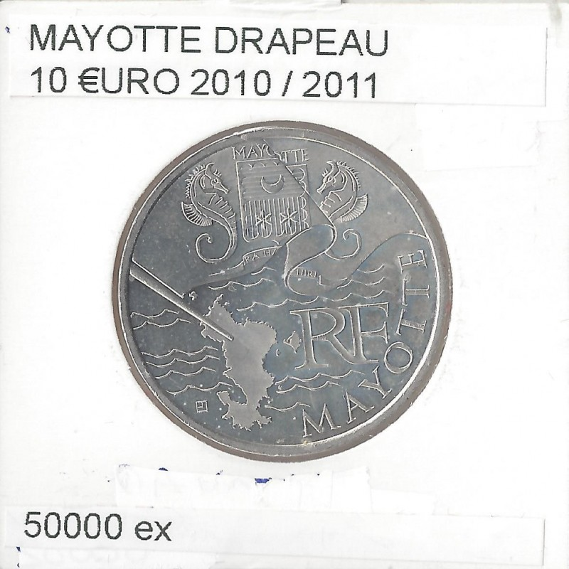 France 2010 10 EURO REGION MAYOTTE DRAPEAU