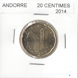 ANDORRE 2014 20 CENTIMES SUP