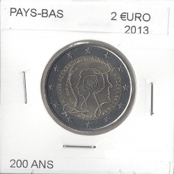 HOLLANDE (PAYS-BAS) 2013 2 EURO COMMEMORATIVE 200 ANS