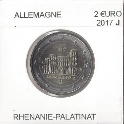 ALLEMAGNE 2017 J  2 EURO COMMEMORATIVE RHENANIE PALATINA SUP