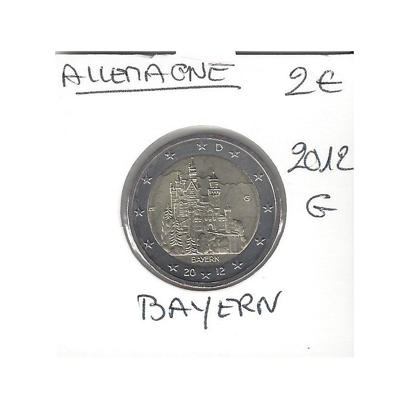 Allemagne 2012 G 2 EURO COMMEMORATIVE BAYERN