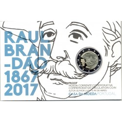 PORTUGAL 2017 2 EURO COMMEMORATIVE RAUL BRANDAO PROOF