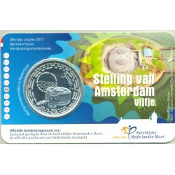HOLLANDE (PAYS-BAS) 2017 5 EURO AMSTERDAM COIN CARD