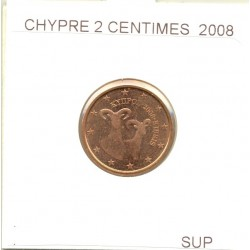 CHYPRE 2008 2 CENTIMES  SUP