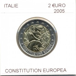 ITALIE 2005 2 EURO COMMEMORATIVE CONSTITUTION EUROPEA SUP