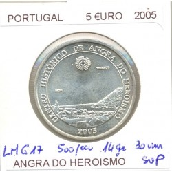 PORTUGAL 2005 5 EURO ANGRA DO HEROISMO SUP