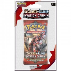 BOOSTER 10 CARTES POKEMON SOLEIL ET LUNE INVASION CARMIN N3