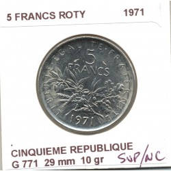 5 FRANCS ROTY 1971 SUP/NC