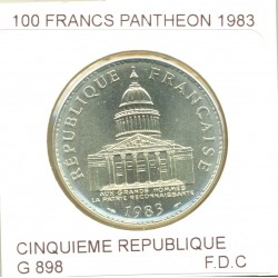 FRANCE 100 FRANCS PANTHEON 1983 F.D.C