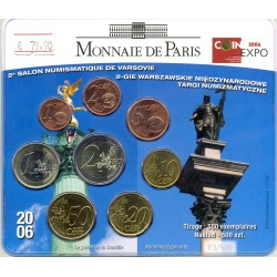 FRANCE 2006 SERIE 8 MONNAIES 2 eme SALON NUMISMATIQUE DE VARSOVIE BU