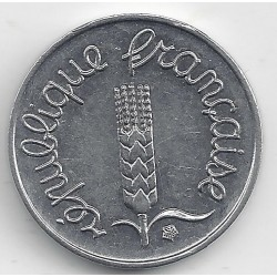FRANCE 1 CENTIME INOX 1966 ECRITURE GRASSE A/R SUP