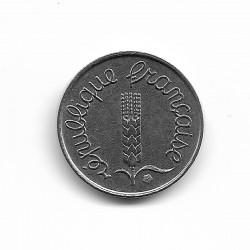 FRANCE 1 CENTIME INOX 1968 REVERS ECRITURE GRASSE SUP