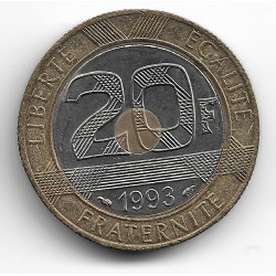 FRANCE 20 FRANCS MONT ST MICHEL 1993 SUP-