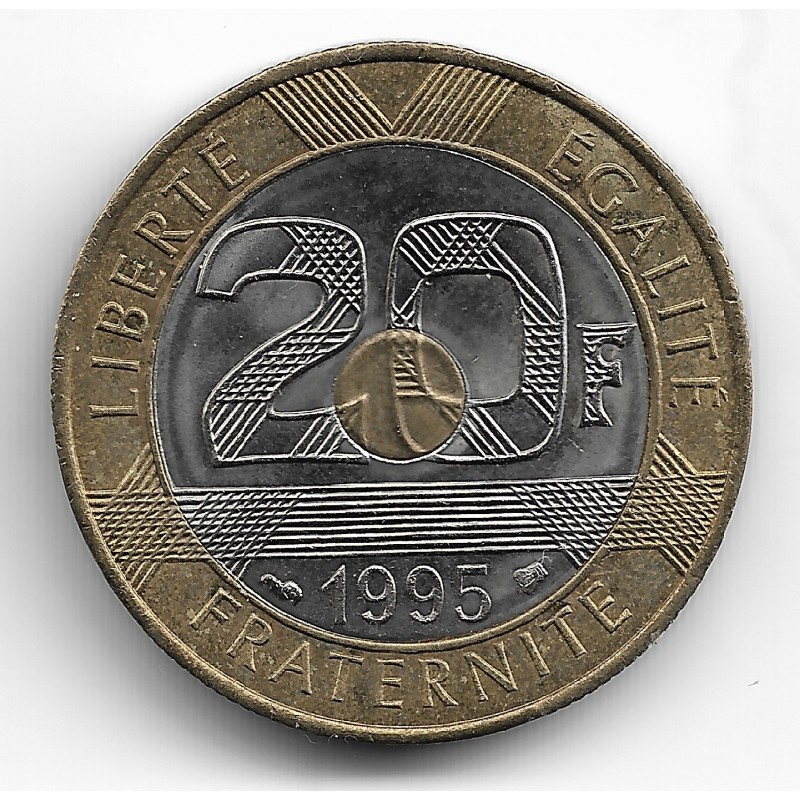 FRANCE 20 FRANCS MONT ST MICHEL 1995 SUP