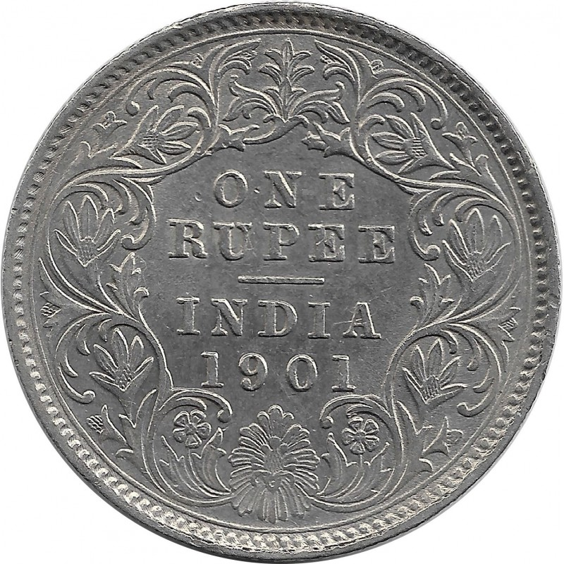 INDE ANGLAISE ONE RUPEE VICTORIA 1901 SUP-