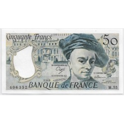 FRANCE 50 FRANCS QUENTIN DELATOUR 1989 M.55 NEUF