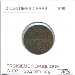FRANCE 2 CENTIMES DUPUIS  1899 TTB