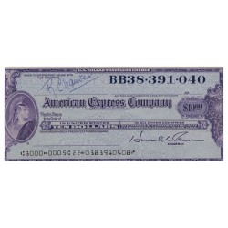 U.S.A AMERICAN EXPRESS TRAVELERS CHEQUE 10 DOLLARS