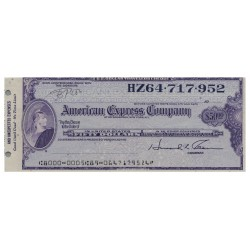 U.S.A AMERICAN EXPRESS TRAVELERS CHEQUE 20 DOLLARS FD102.151.508