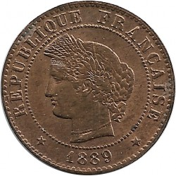 FRANCE 1 CENTIME CERES 1889 A SUP