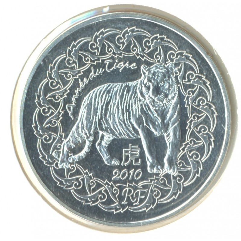 FRANCE 2010 5 EURO ANNEE CHINOISE DU TIGRE SUP