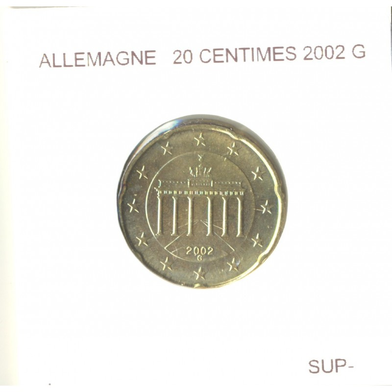 Allemagne 2002 G 20 CENTIMES SUP-